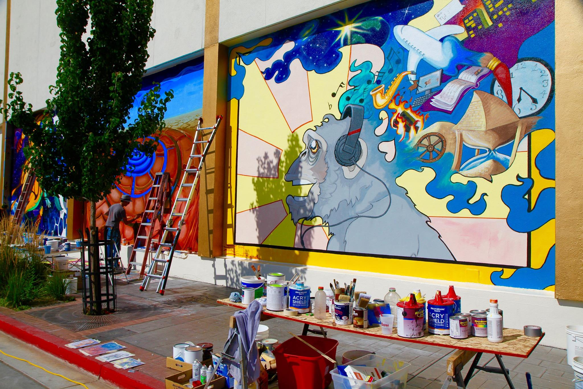 Is reno saturated with arts and culture activities or do for Circus wall mural