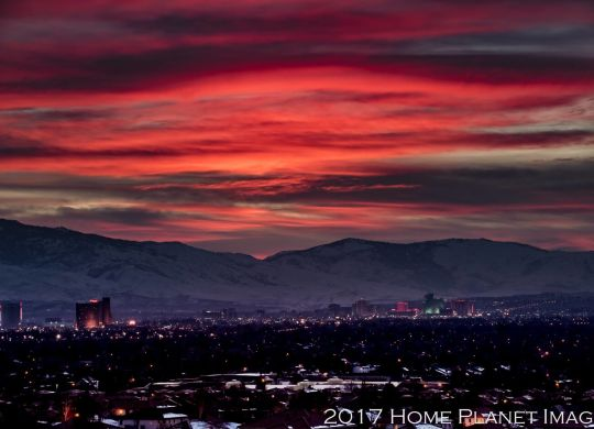 Sunset over Reno