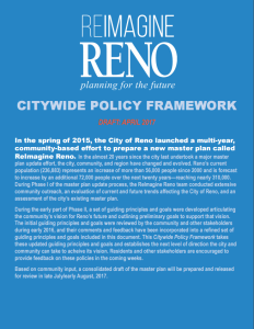 First Page of Draft Citywide Policy Framework Document